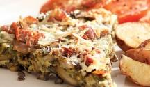 Mushroom & Wild Rice Frittata