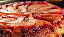Pear, Apple & Cranberry Tarte Tatin