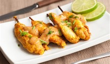 Tandoori Chicken Satay with Spicy Peanut Sauce