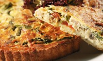 Asparagus and Bell Pepper Quiche