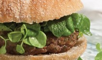 Lamb Burgers Topped with Mâche Salad