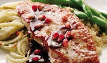 Pomegranate-Glazed Turkey with Roasted Fennel