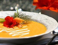 Creamy Carrot and Coconut Milk Soup with Thai Red Curry