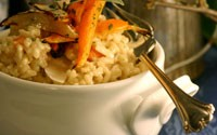 Roasted Root Vegetable Risotto with Fresh Sage