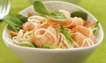 Cilantro Lime Noodles with Shrimp and Snow Peas
