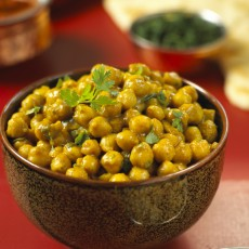 Curried Chickpeas in Coconut Milk