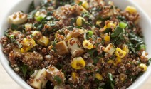 Quinoa Kale Salad with Corn