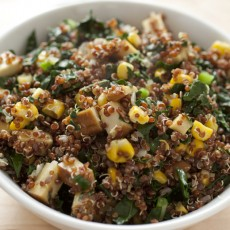 Quinoa Kale Salad with Corn