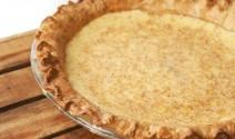 Eggnog Custard Pie