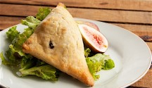 Fig and Goat Cheese Turnovers with Mixed Green Salad