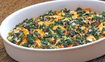 Sweet Potato and Greens Gratin