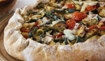 Easy Pizza Crusts and Roasted Veggie Asiago Stuffed Pizza