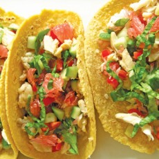Fish Tacos with Grapefruit Salsa