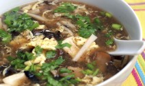 Hot and Sour Soup with Shiitakes and Eggs