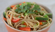 Red Miso Udon with Veggies