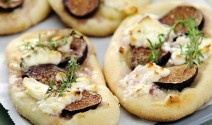 Chevre, Fig and Honey Pizzas