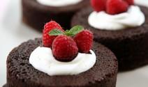 Individual Light Chocolate Cakes