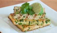 Grilled Tofu with Cilantro Ginger Pesto
