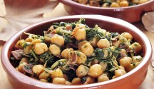 Spanish Chickpea and Spinach Tapa