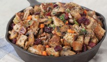 Cranberry Pecan Skillet Stuffing