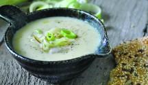 Potato Leek Soup with Gruyere