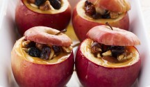 Maple and Dried Fruit Stuffed Baked Apples