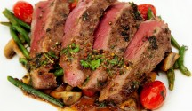 Steak with Whiskey-Mustard Sauce