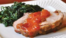 Roast Pork with Mango Chutney