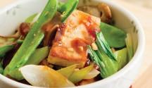 Miso-Sriracha Tofu with Bok Choy