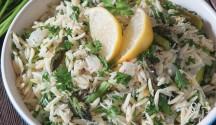 Asparagus Gremolata with Orzo