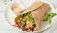 Marinated Tofu Wrap with Spicy Cabbage Slaw
