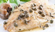 Fish in Herbed White Wine and Caper Sauce