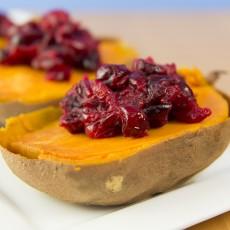 Maple-Cranberry Sweet Potatoes