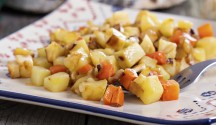 Squash, Bacon and Apple Hash