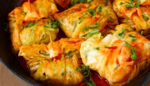 Buckwheat-Almond Stuffed Cabbage Rolls