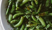 Charred Snap Peas with Mint and Lemon