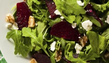 Baby Greens and Beet Salad with Lemon Chia Dressing