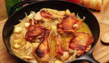 Braised Apricot Chicken with Honey-Glazed Pears