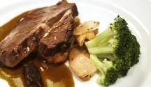 Sirloin Steak with Coffee Rum Sauce