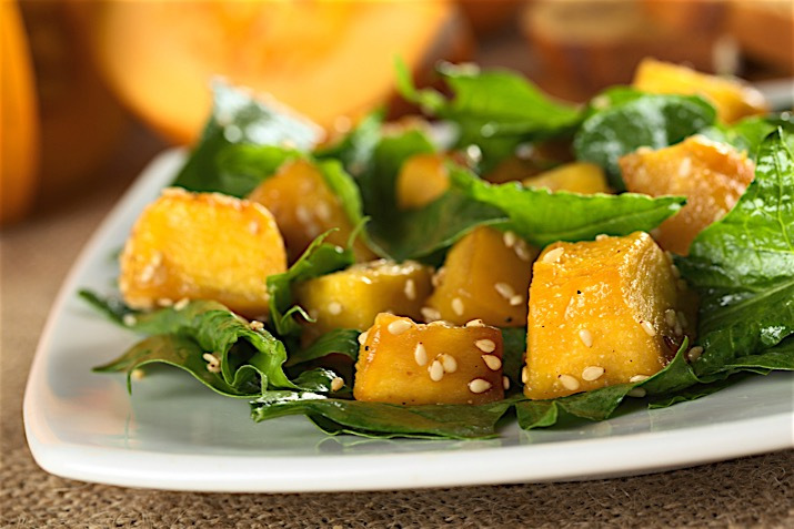 Ginger Miso Dressing with Squash & Spinach Salad Recipe ...