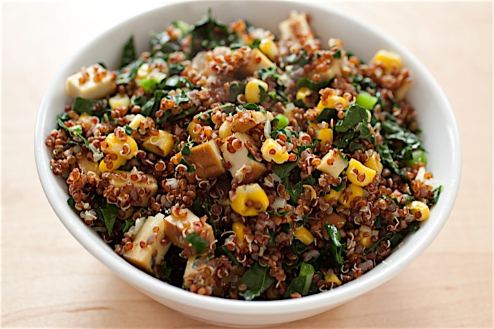 Quinoa Kale Salad with Corn Co+op, stronger together