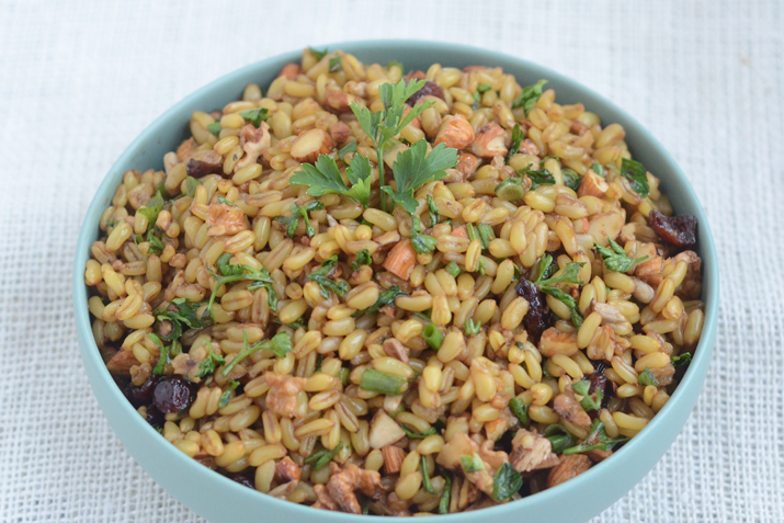 kamut salad with nuts and fruit recipe co op stronger together
