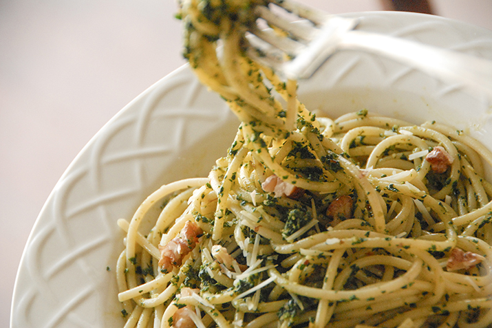 Kale-Walnut Pesto with Sun-Dried Tomatoes Recipe   Co+op, stronger ...