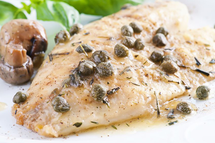 Fish in herbed white wine and caper sauce recipe co op for White wine with fish